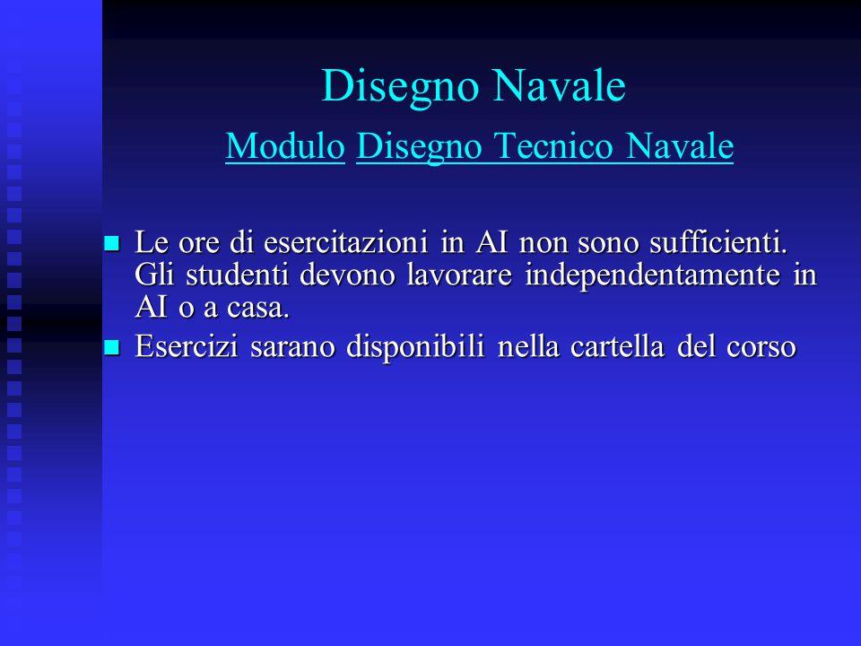 Disegno Navale Modulo Disegno Tecnico Navale
