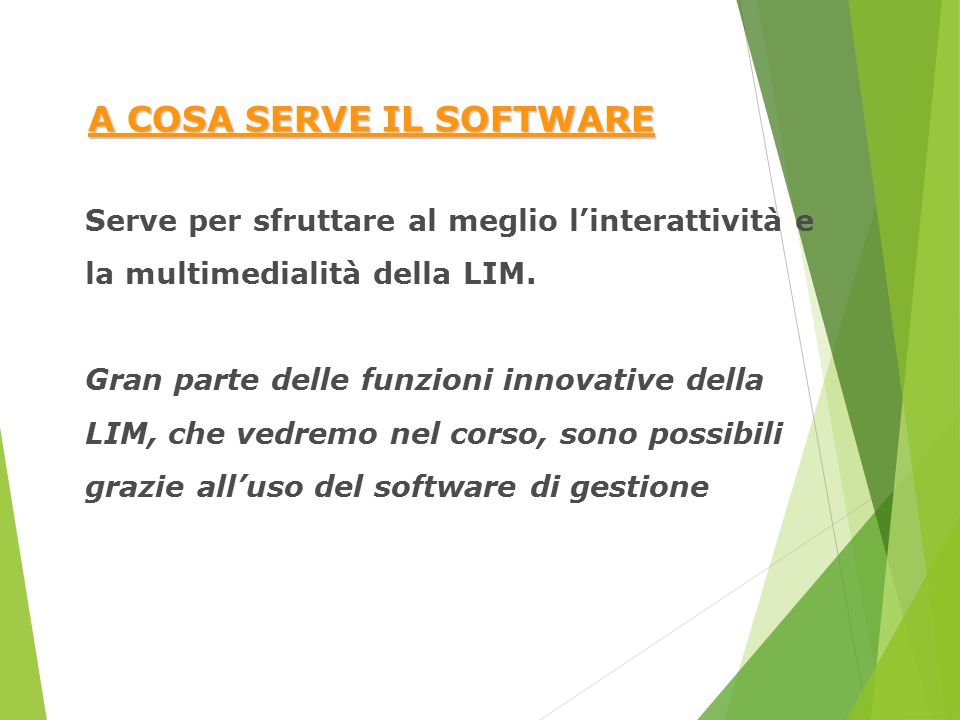 A COSA SERVE IL SOFTWARE