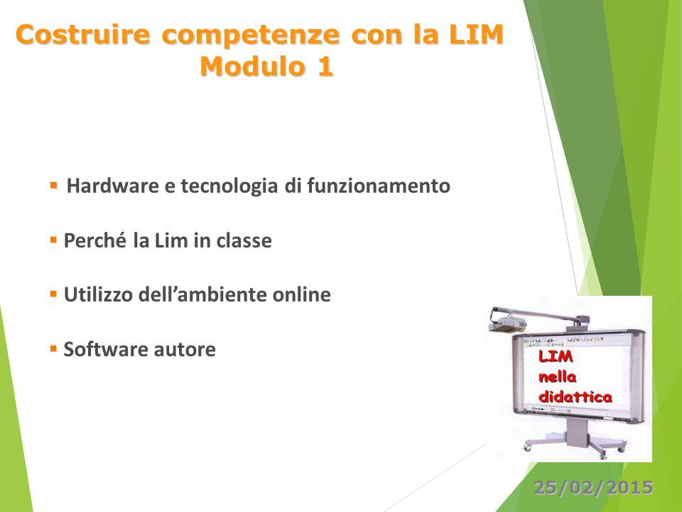 Costruire competenze con la LIM Modulo 1