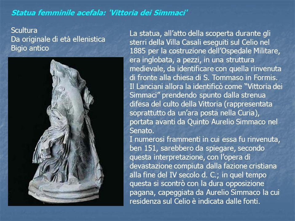Statua femminile acefala: Vittoria dei Simmaci