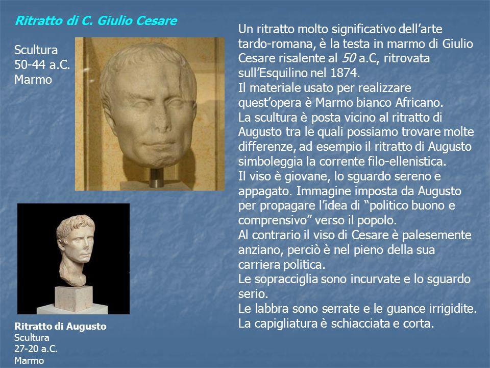 Ritratto di C. Giulio Cesare Scultura 50-44 a.C. Marmo