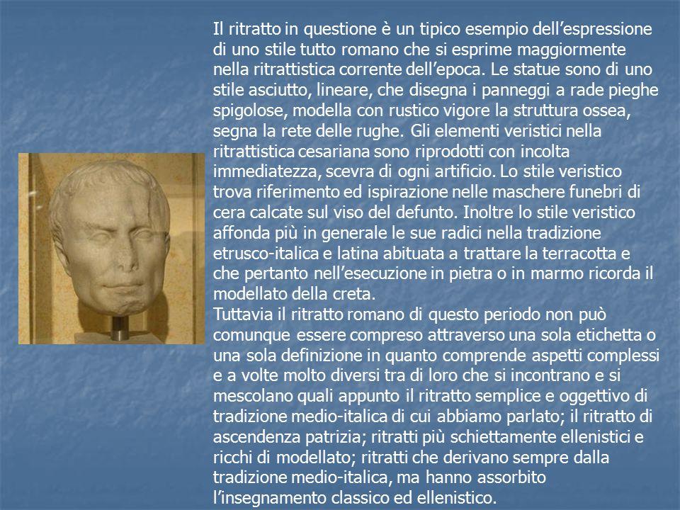 Il ritratto in questione è un tipico esempio dell'espressione di uno stile tutto romano che si esprime maggiormente nella ritrattistica corrente dell'epoca.