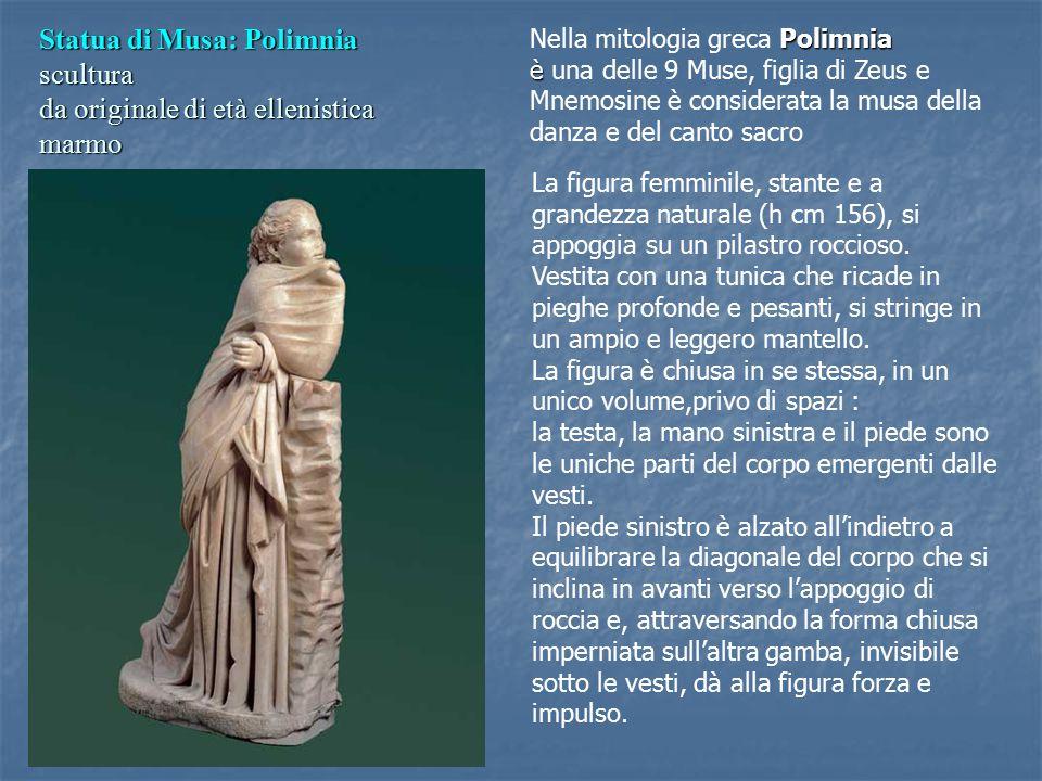Nella mitologia greca Polimnia è una delle 9 Muse, figlia di Zeus e Mnemosine è considerata la musa della danza e del canto sacro