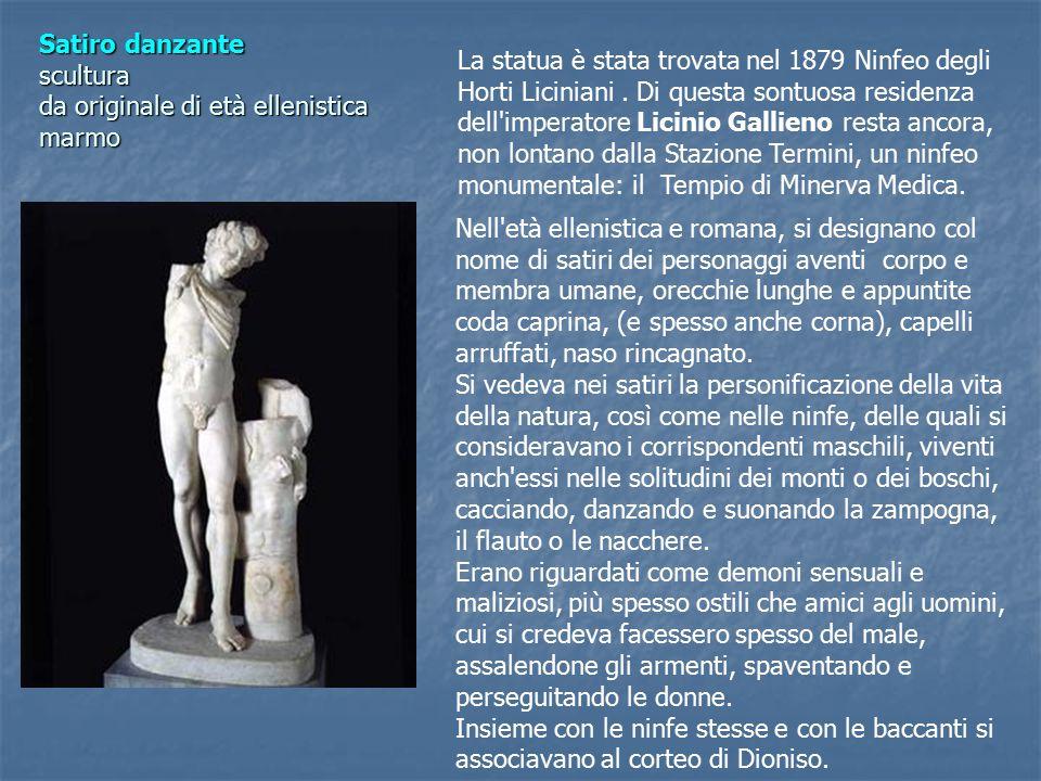 Satiro danzante scultura da originale di età ellenistica marmo