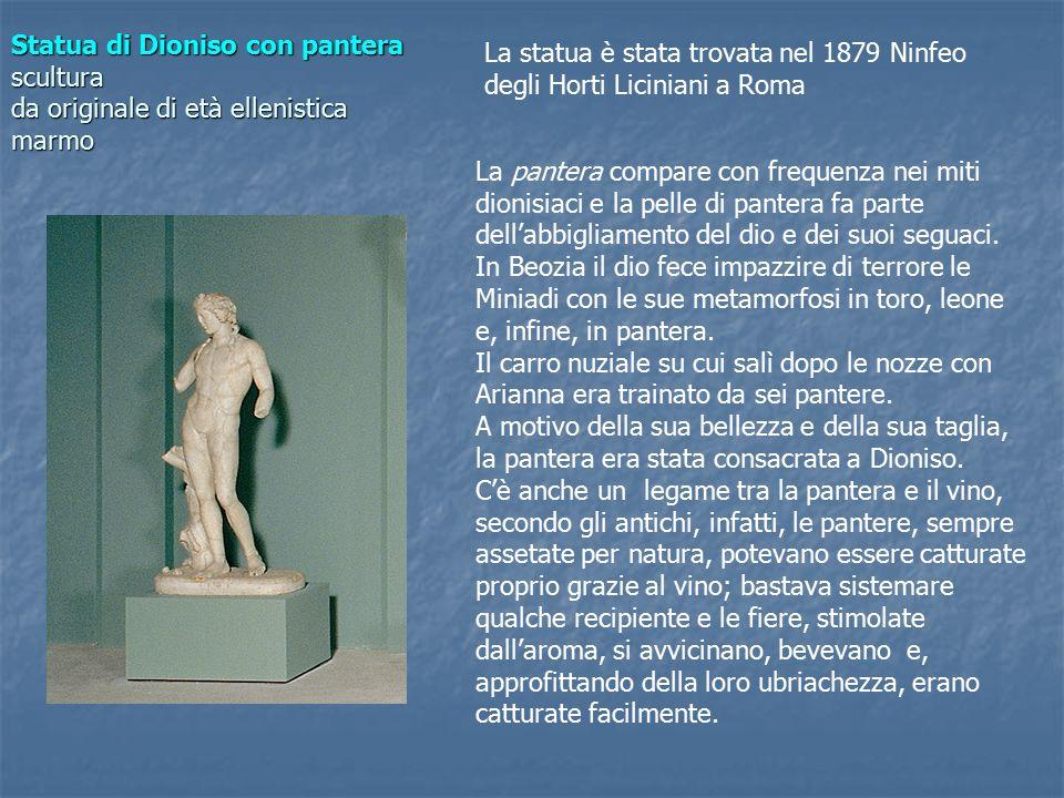 Statua di Dioniso con pantera scultura da originale di età ellenistica marmo