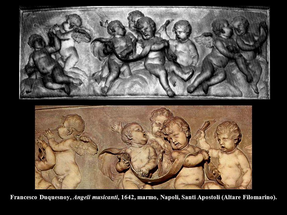 Francesco Duquesnoy, Angeli musicanti, 1642, marmo, Napoli, Santi Apostoli (Altare Filomarino).