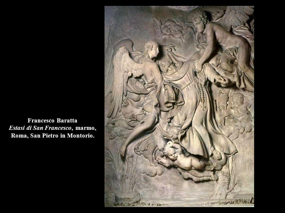 Francesco Baratta Estasi di San Francesco, marmo, Roma, San Pietro in Montorio.