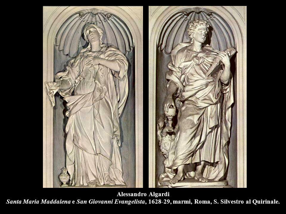 Alessandro Algardi Santa Maria Maddalena e San Giovanni Evangelista, 1628-29, marmi, Roma, S.