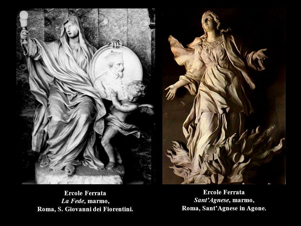 Ercole Ferrata La Fede, marmo, Roma, S. Giovanni dei Fiorentini.