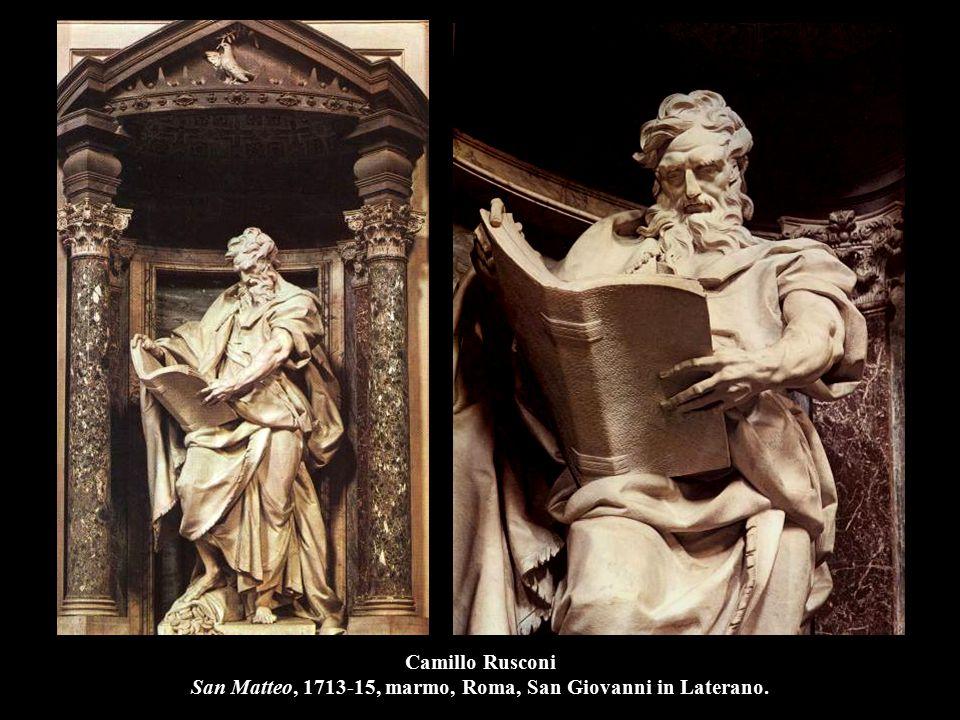 Camillo Rusconi San Matteo, 1713-15, marmo, Roma, San Giovanni in Laterano.