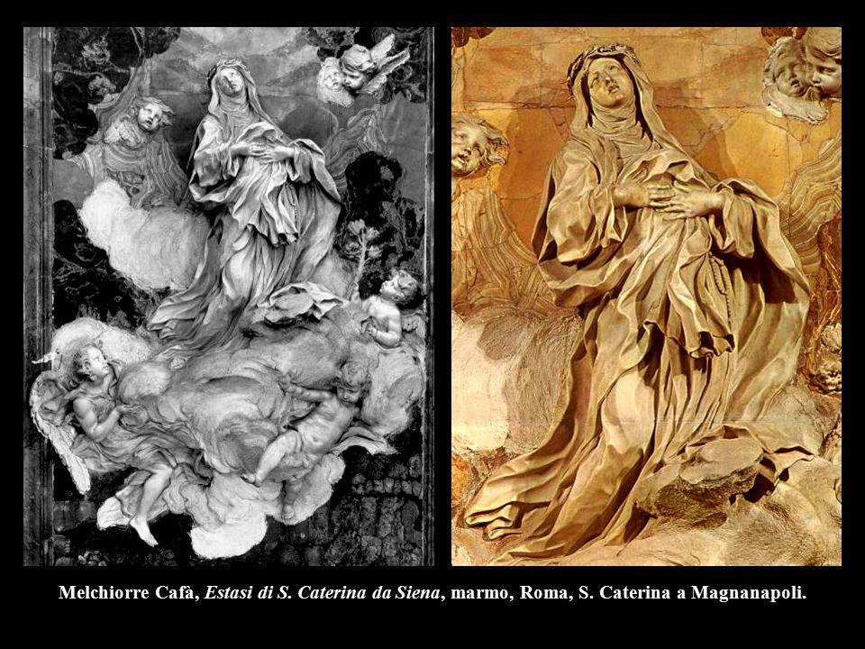 Melchiorre Cafà, Estasi di S. Caterina da Siena, marmo, Roma, S