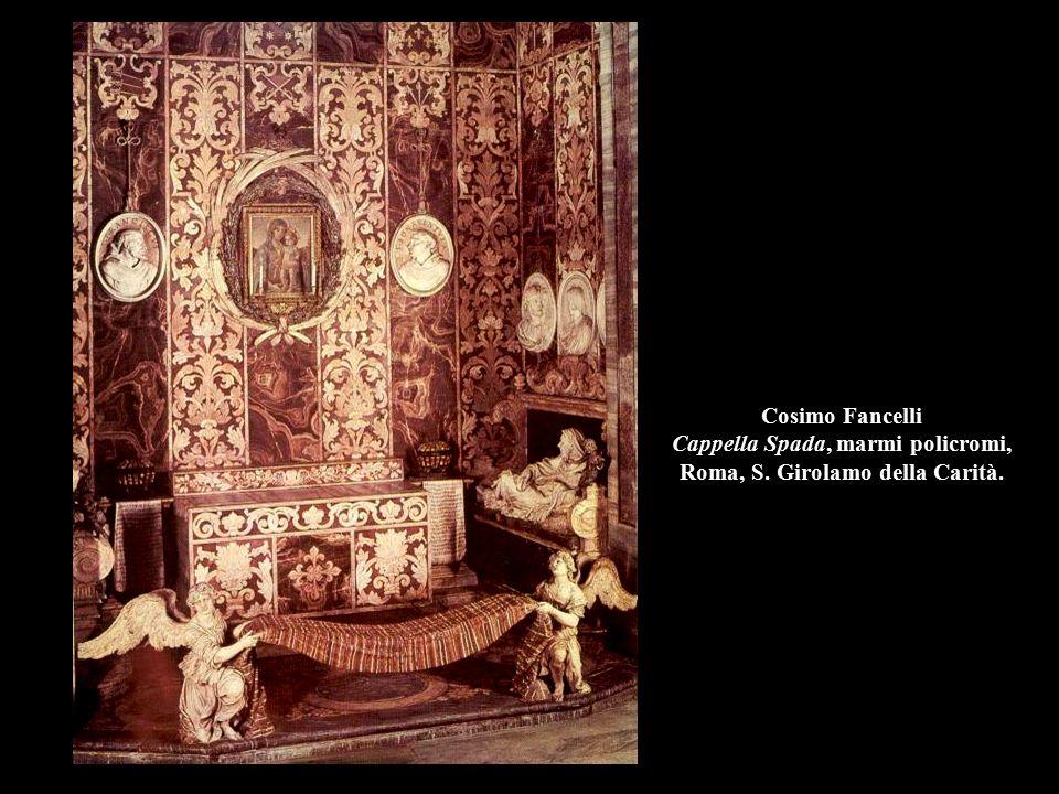 Cosimo Fancelli Cappella Spada, marmi policromi, Roma, S