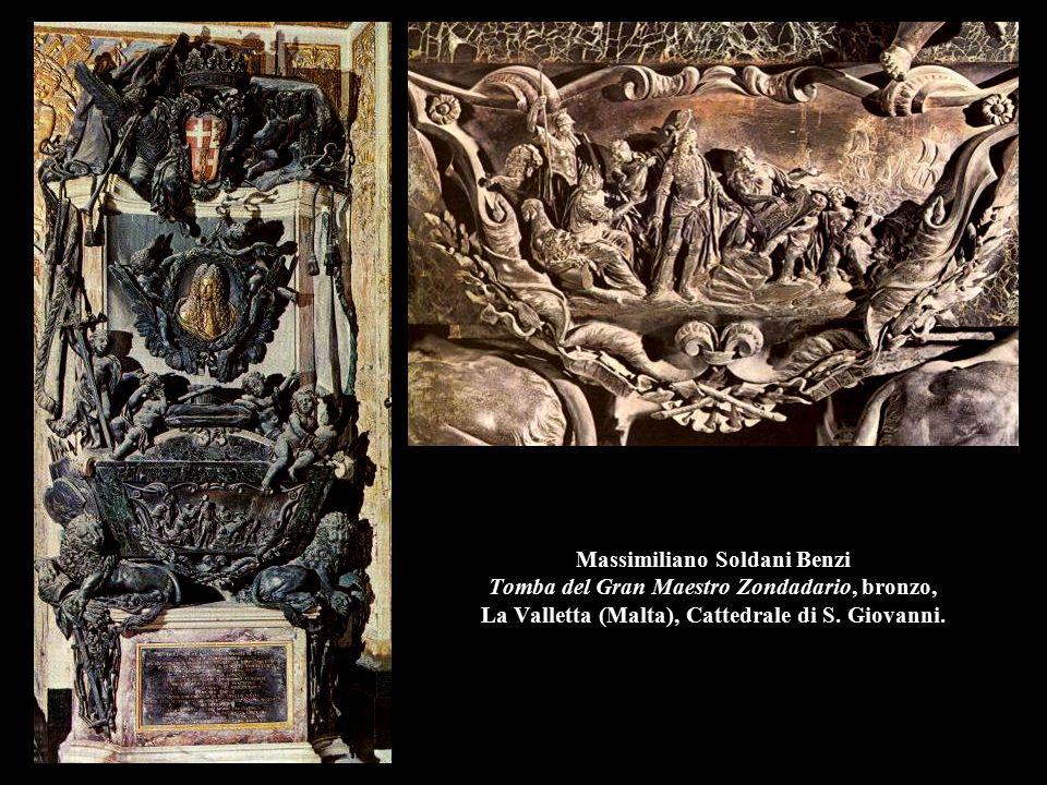 Massimiliano Soldani Benzi Tomba del Gran Maestro Zondadario, bronzo, La Valletta (Malta), Cattedrale di S.