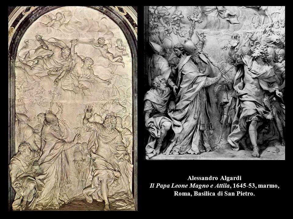 Alessandro Algardi Il Papa Leone Magno e Attila, 1645-53, marmo, Roma, Basilica di San Pietro.