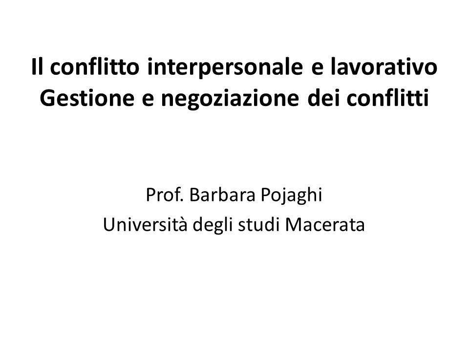 Prof. Barbara Pojaghi Università degli studi Macerata