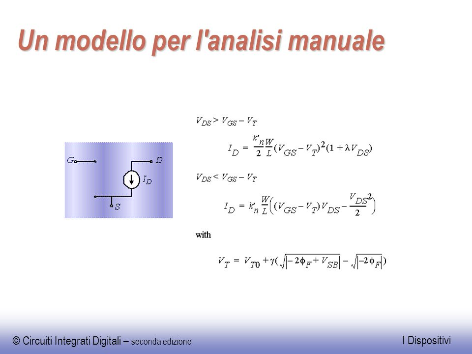 Un modello per l analisi manuale