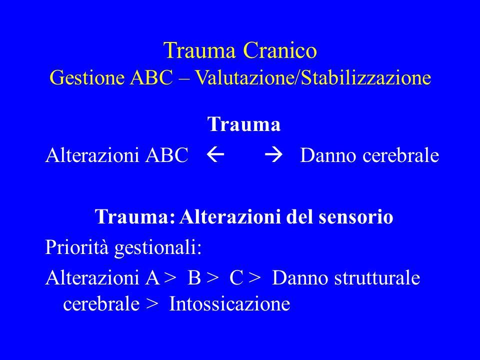 Trauma: Alterazioni del sensorio