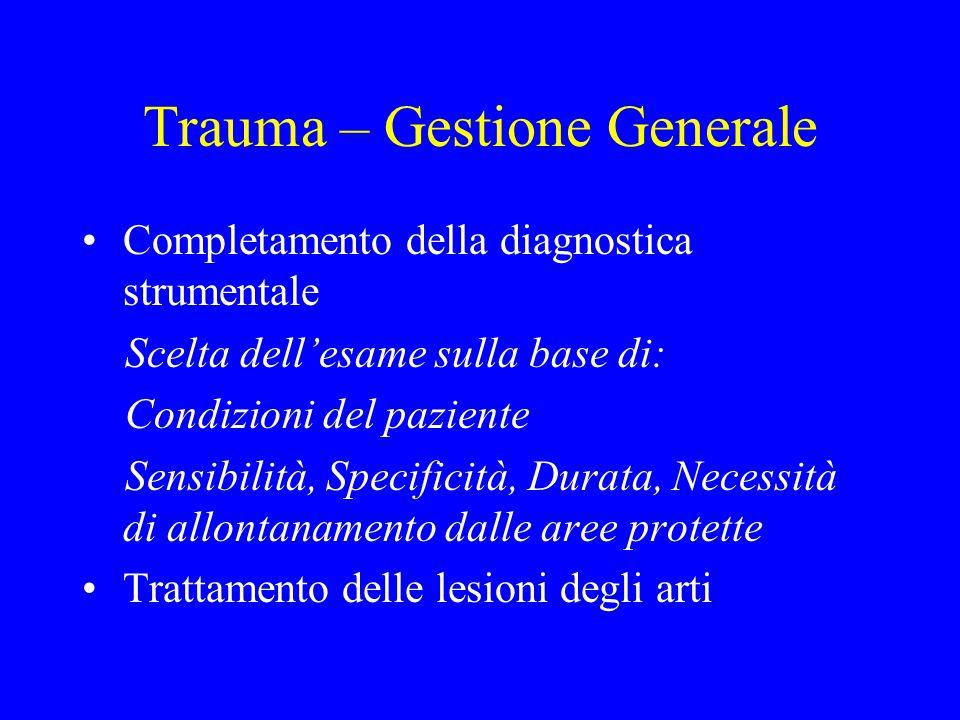 Trauma – Gestione Generale