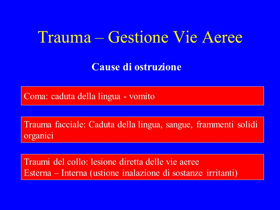 Trauma – Gestione Vie Aeree