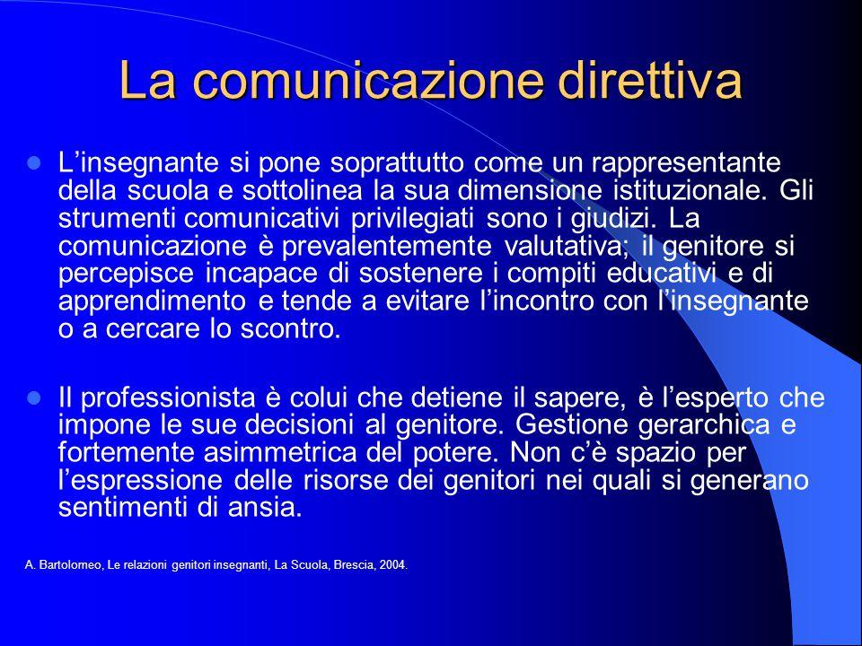 La comunicazione direttiva