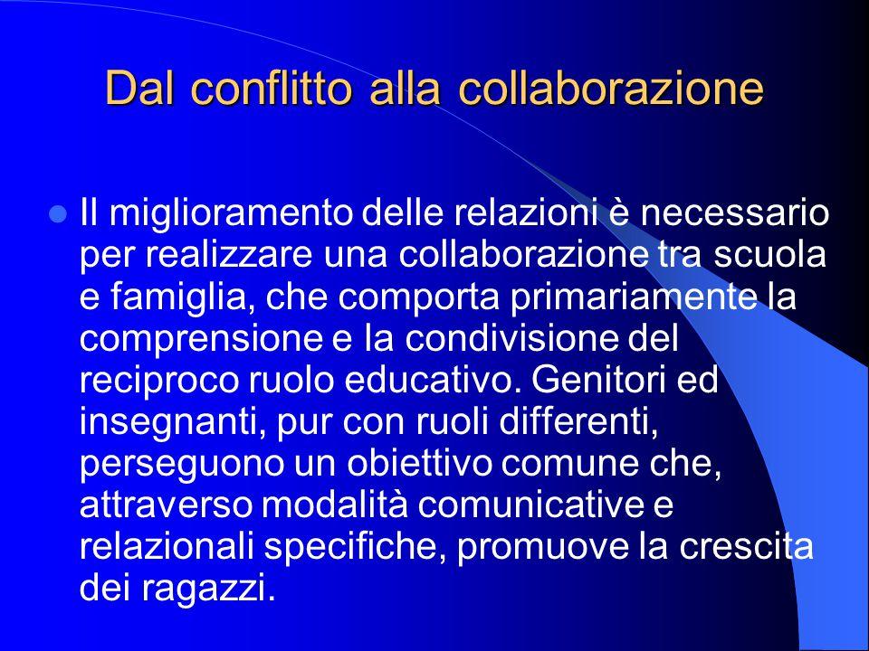 Dal conflitto alla collaborazione