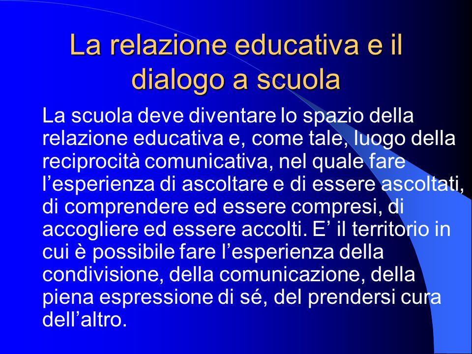 La relazione educativa e il dialogo a scuola