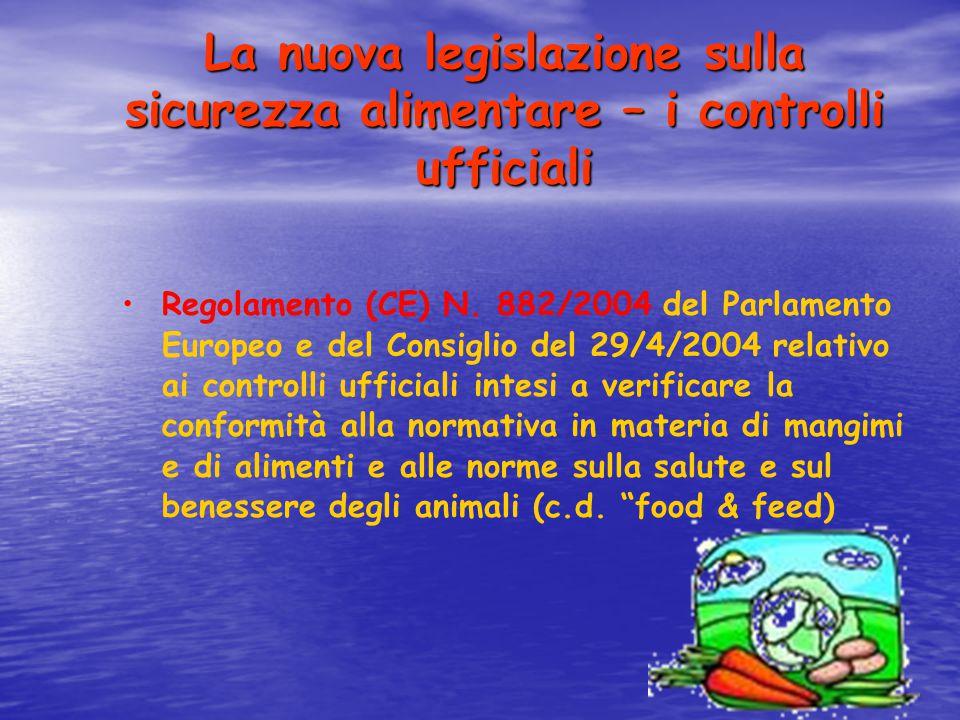 La nuova legislazione sulla sicurezza alimentare – i controlli ufficiali