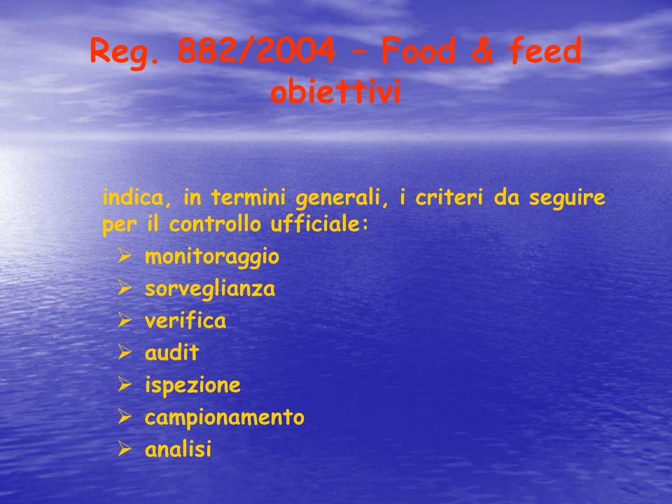 Reg. 882/2004 – Food & feed obiettivi
