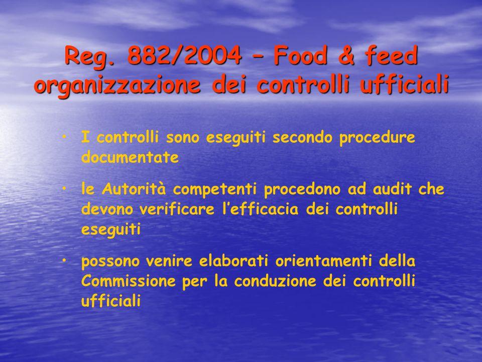 Reg. 882/2004 – Food & feed organizzazione dei controlli ufficiali