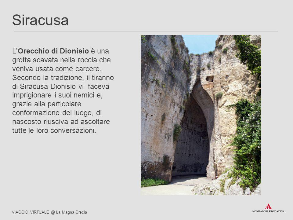 03/07/12 Siracusa. L Orecchio di Dionisio è una grotta scavata nella roccia che veniva usata come carcere. Secondo la tradizione, il tiranno.
