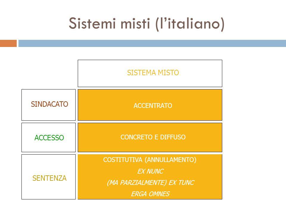 Sistemi misti (l'italiano)
