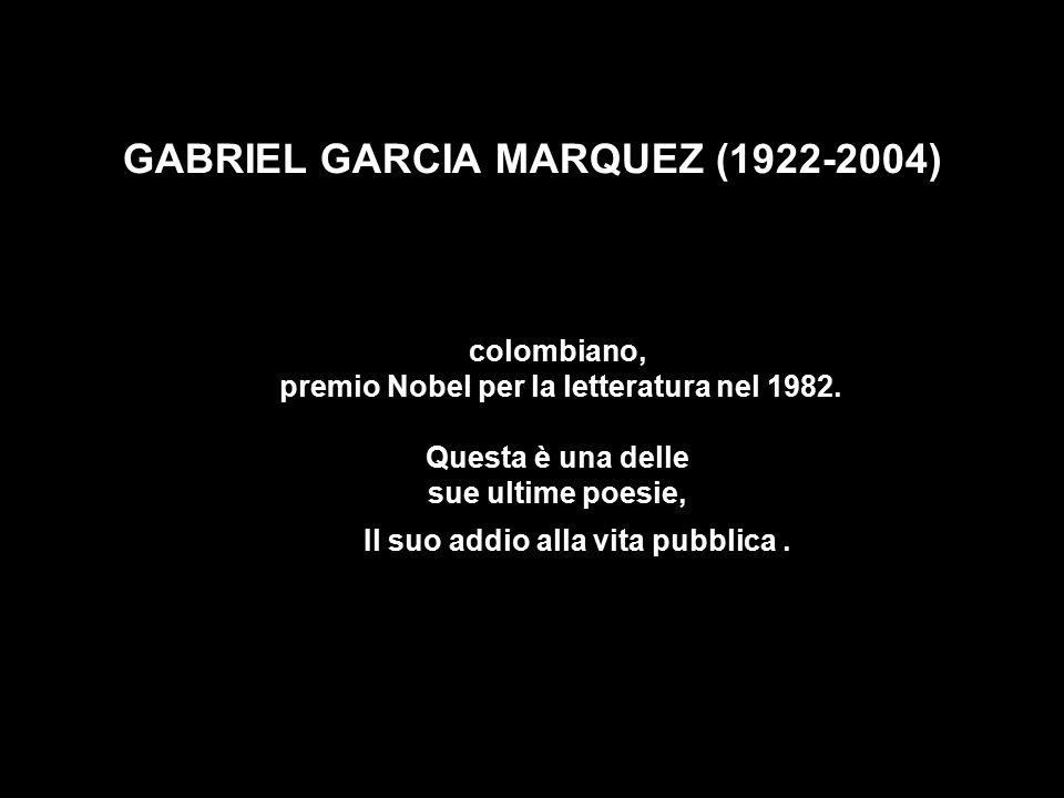GABRIEL GARCIA MARQUEZ (1922-2004)