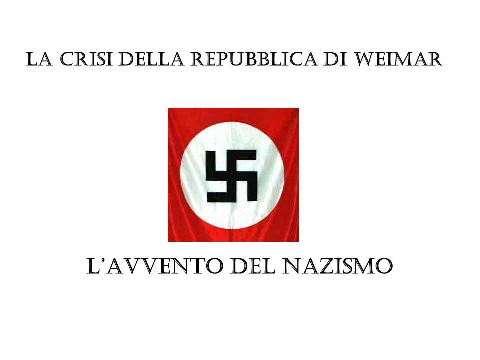 La crisi della Repubblica di Weimar