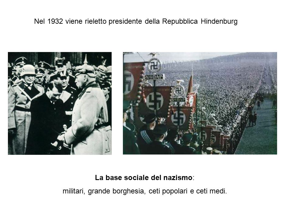 Nel 1932 viene rieletto presidente della Repubblica Hindenburg