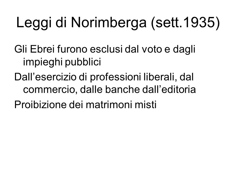Leggi di Norimberga (sett.1935)