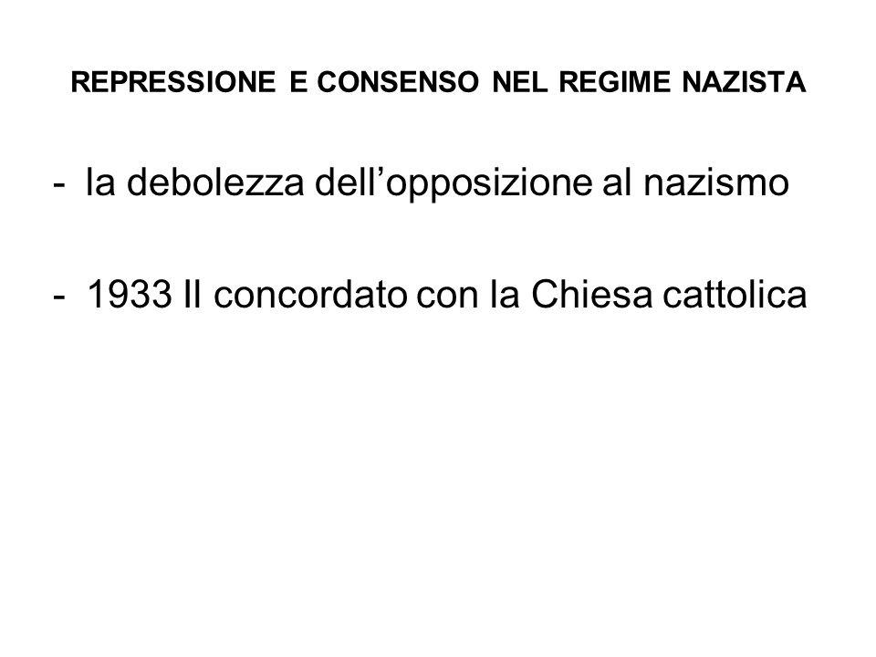 REPRESSIONE E CONSENSO NEL REGIME NAZISTA