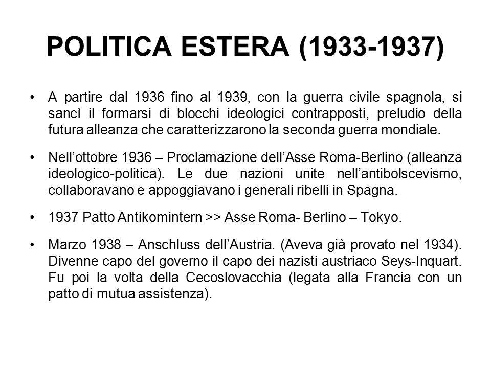 POLITICA ESTERA (1933-1937)