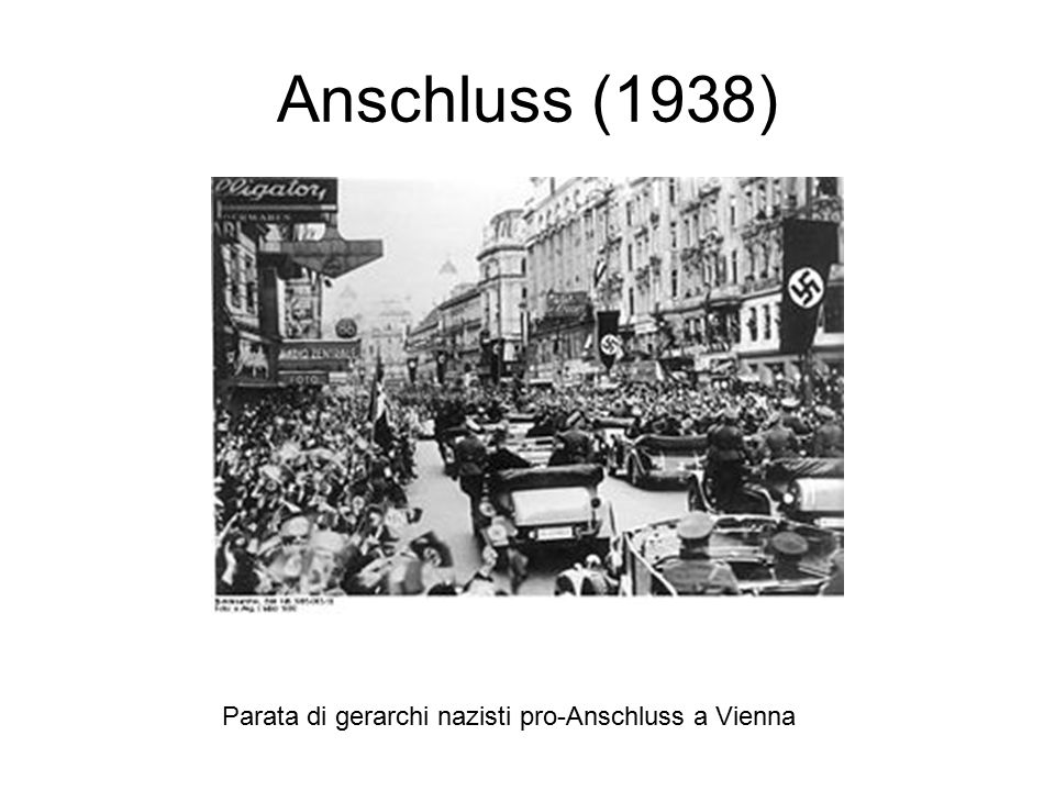 Anschluss (1938) Parata di gerarchi nazisti pro-Anschluss a Vienna