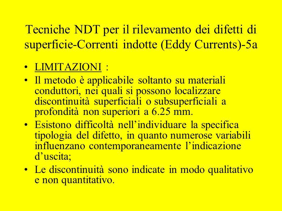 Tecniche NDT per il rilevamento dei difetti di superficie-Correnti indotte (Eddy Currents)-5a