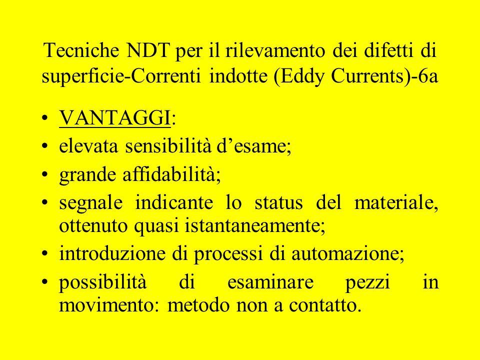 Tecniche NDT per il rilevamento dei difetti di superficie-Correnti indotte (Eddy Currents)-6a