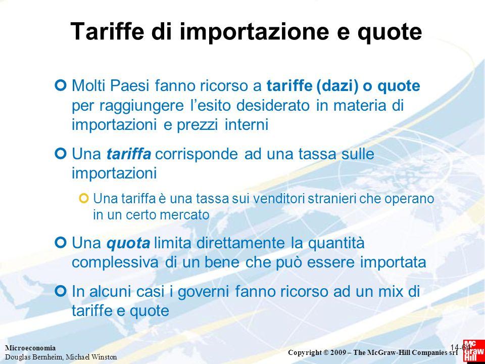 Tariffe di importazione e quote