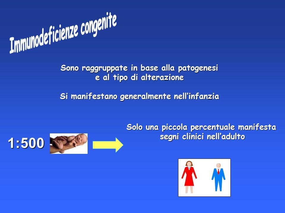 1:500 Immunodeficienze congenite