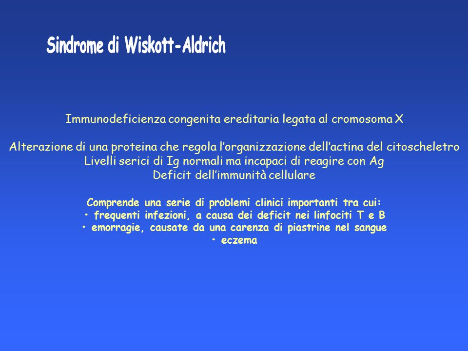 Sindrome di Wiskott-Aldrich