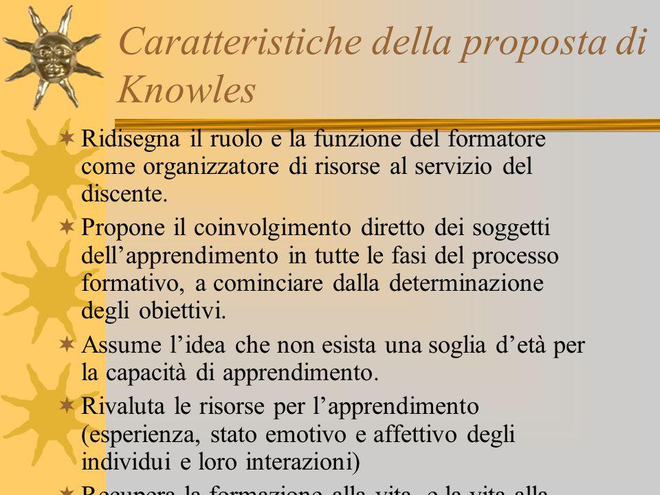 Caratteristiche della proposta di Knowles