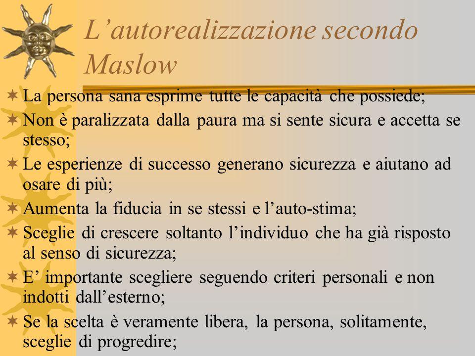L'autorealizzazione secondo Maslow