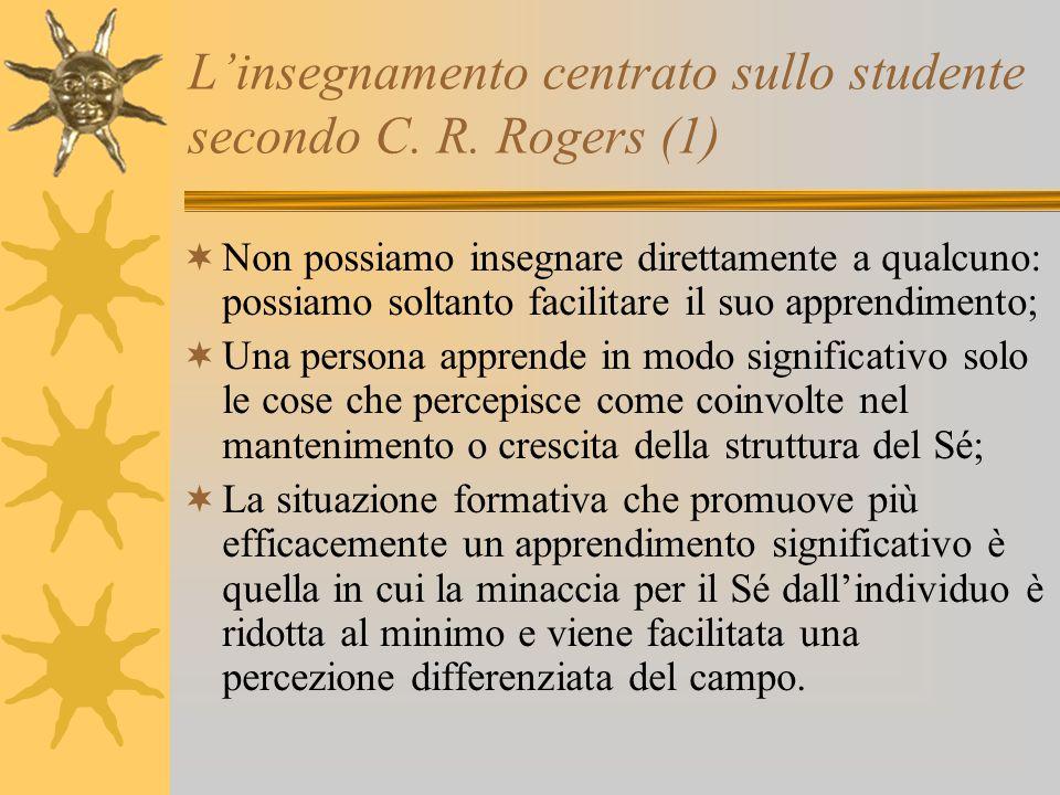 L'insegnamento centrato sullo studente secondo C. R. Rogers (1)