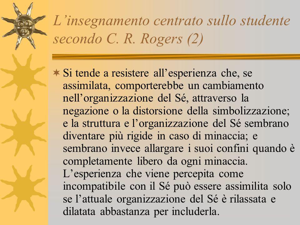 L'insegnamento centrato sullo studente secondo C. R. Rogers (2)