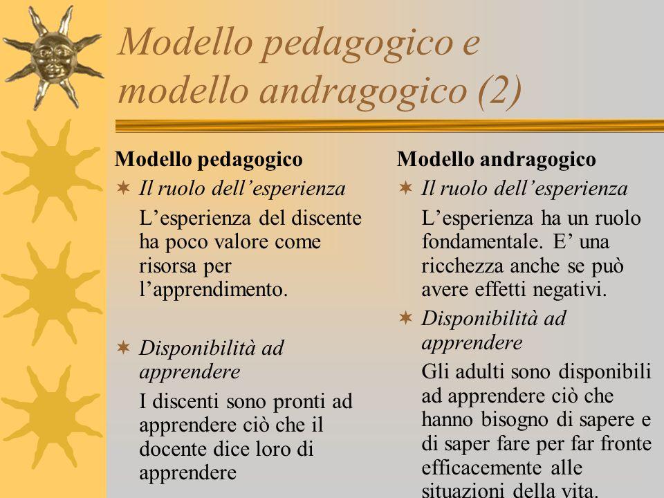 Modello pedagogico e modello andragogico (2)