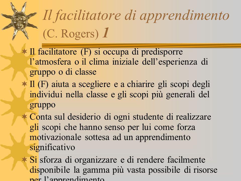 Il facilitatore di apprendimento (C. Rogers) 1