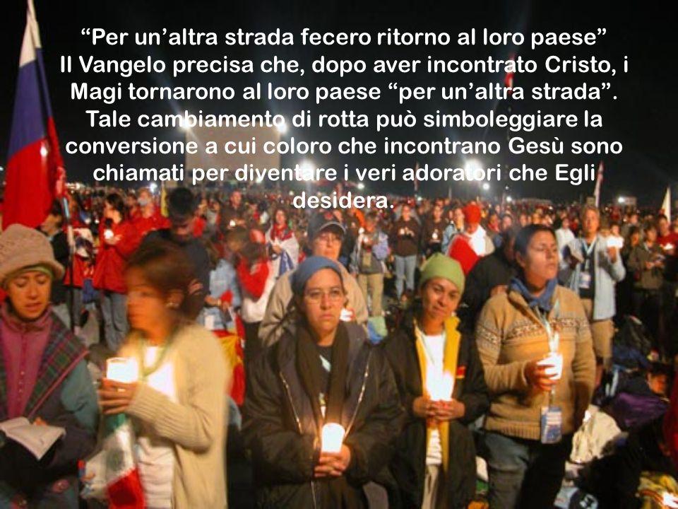 Per un'altra strada fecero ritorno al loro paese Il Vangelo precisa che, dopo aver incontrato Cristo, i Magi tornarono al loro paese per un'altra strada .